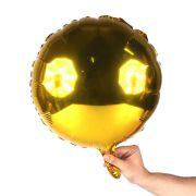 Balão Metalizado Redondo Dourado 18