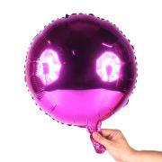 Balão Metalizado Redondo Pink 18