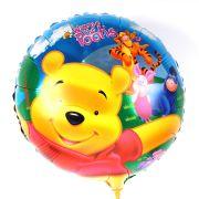 Balão Metalizado Redondo Ursinho Pooh