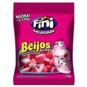Balas de Gelatina Beijos de Morango Fini 250g