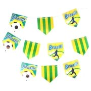 Bandeirinhas de Papel com Estampa do Brasil