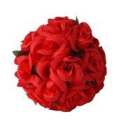Bola de Flores Cetim 17cm