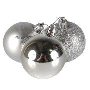 Bola de Natal Mista 6cm com 12 unidades