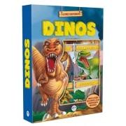 Box Com 6 Minilivros - Dinos Dinossauro Fatos Curiosos - Ciranda Cultural