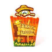 Cachepot de Papel Caipira Festa Junina com 10 Unidades
