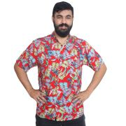 Camisa Havaiana com Estampas Floridas Sortidas