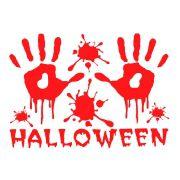 Cartela de Adesivos Halloween Mão de Sangue