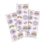 Cartela de Adesivos Unicórnio Festcolor com 30 adesivos