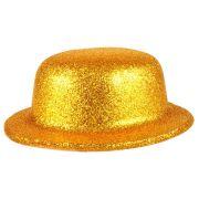 Chapéu Coquinho de Plástico com Glitter Dourado