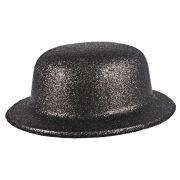 Chapéu Coquinho de Plástico com Glitter Preto