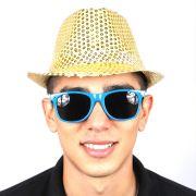Chapéu Malandro Paetê Dourado