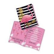Convite Flamingo - 8 unidades