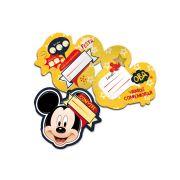 Convite Mickey Clássico 8 Un