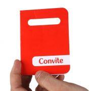 Convite Neutro Diversas Cores 8 unidades
