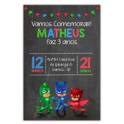 Convite Personalizado PJ Masks 15x10