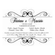 Convite Personalizado Casamento Arabesco 10x15