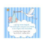 Convite Personalizado Chá de Bebê Menino