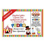 Convite Personalizado Circo 10x15