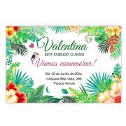 Convite Personalizado Festa Tropical 10x15