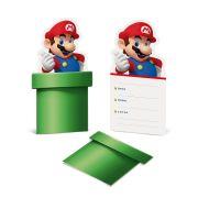 Convite Super Mario 8 unidades