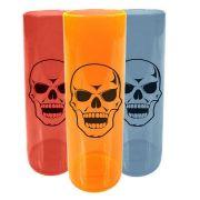 Copo Long Drink Caveira Halloween - Cores Sortidas