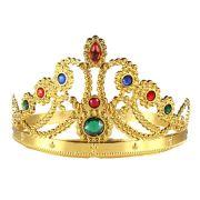 Coroa de Rainha Plástica Dourada