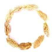 Coroa Grega de Folhas Douradas