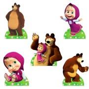 Display da Masha e o Urso para Decoração de Mesa