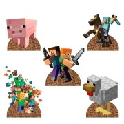 Display do Minecraft para Decoração de Mesa