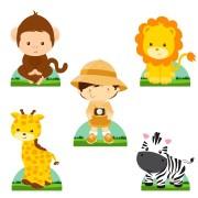 Display do Safari para Decoração de Mesa