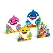 Enfeite de Mesa Baby Shark 4 unidades