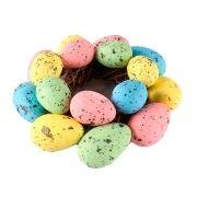 Enfeite de Páscoa Guirlanda de Ovos Coloridos