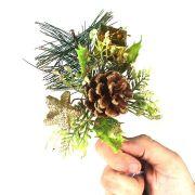 Enfeite Pick Natalino Dourado 15cm