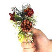 Enfeite Pick Natalino Vermelho 15cm