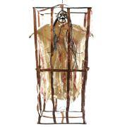 Esqueleto na Gaiola com Luz e Som