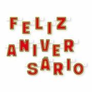 Faixa Feliz Aniversário Vermelha