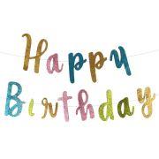 Faixa Happy Birthday Colorida