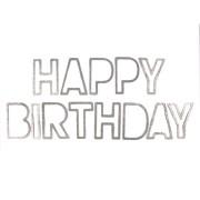Faixa Happy Birthday Prata