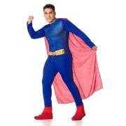Fantasia Adulto Superman com Capa - Vários Tamanhos