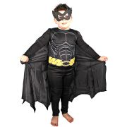 Fantasia Infantil Macacão Batman com Máscara