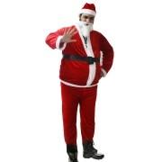 Fantasia de Papai Noel Aveludada