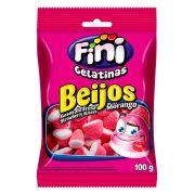 Balas de Gelatina Beijos de Morango Fini 100g