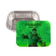 Kit 10 Lembrancinha Marmitinha Personalizada Hulk