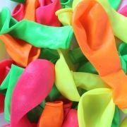 Kit 120 Bexiga Citrica Nº7 +100 Pulseiras Neon