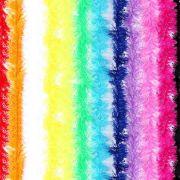 Kit 150 Marabus Sintético Colorido Com Fios Metalizado 150cm