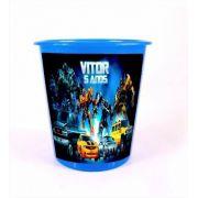Kit 20 Lembrancinha Balde Pipoca Personalizado Transformers