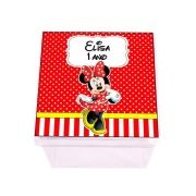 Kit 20 Lembrancinha Caixa Acrílica Personalizada Minnie