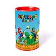 Kit 25 Lembrancinha Cofrinho Personalizado Super Mario