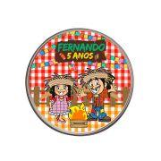 Kit 50 Lembrancinha Latinha Personalizada Festa Junina