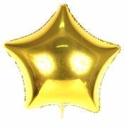Kit 7 Balão Metalizado Estrela 48cm Dourado